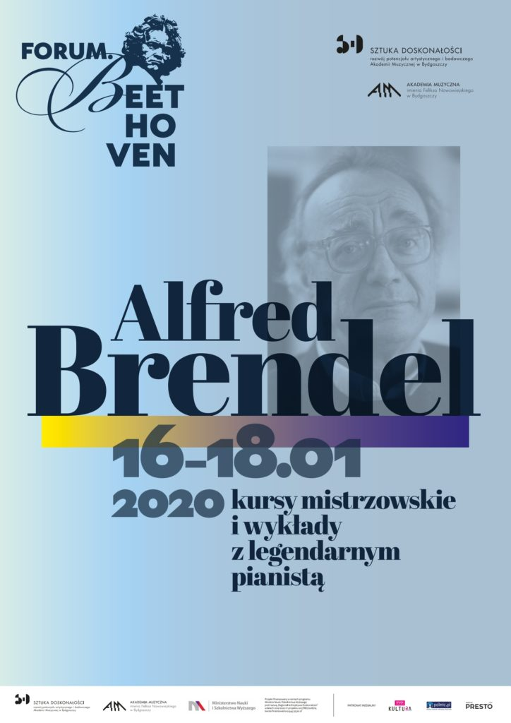 Poster about Alfred Brendel masterclass