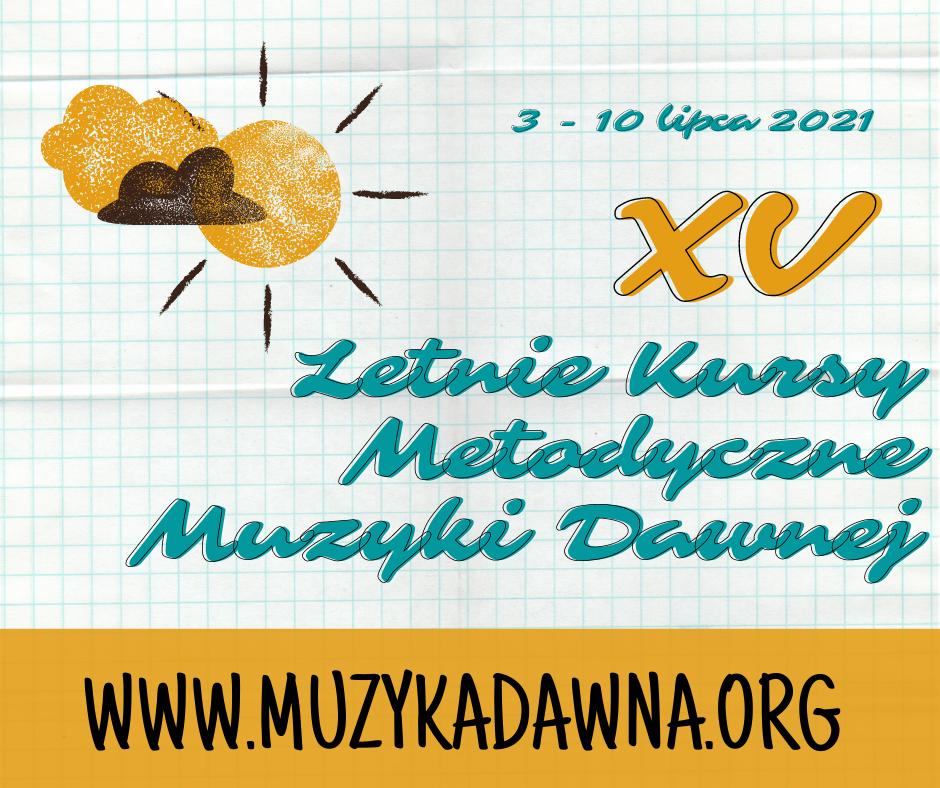 grafika piętnastych letnich kursów metodycznych muzyki dawnej w Warszawie
